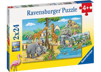 Ravensburger - Welcome To The Zoo Puzzle 2x24pc