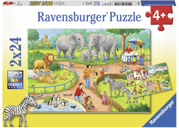 Ravensburger - A Day at the Zoo Puzzle 2x24pc