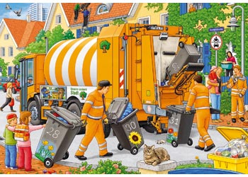 Ravensburger - Trash Removal Puzzle 2x24pc