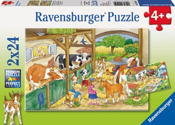 Ravensburger - Merry Country Life Puzzle 2x24pc