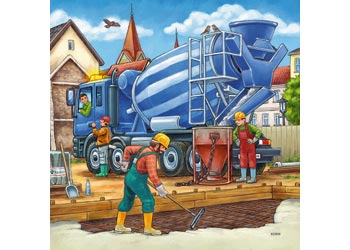 Ravensburger - Construction Vehicle 3x49pc Puzzle
