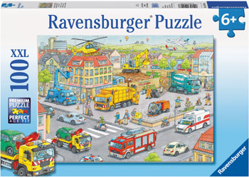 Ravensburger - Vehicles in the City Puzzle 100 pieces