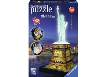 Rburg - Statue of Liberty at Night 3D Puzzle 216pc