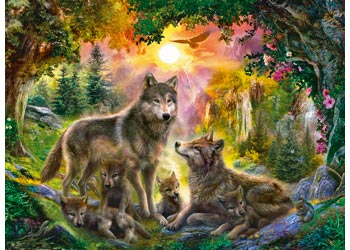 Ravensburger - Wolf Family in Sunshine Puzzle 500 pieces