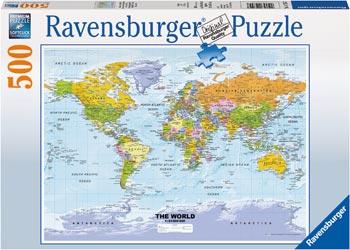 Maps charts ravensburger political world map puzzle 500 pieces maps charts gumiabroncs Choice Image