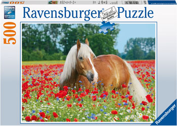 Ravensburger - Horse in the Poppy Field Puzzle 500pc