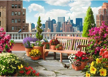 Ravensburger - Rooftop Garden Puzzle 500pcLF