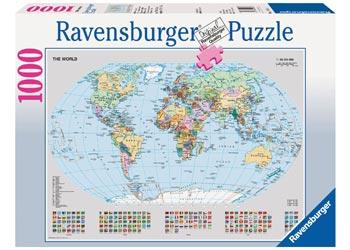Maps charts ravensburger political world map puzzle 1000 pieces maps charts gumiabroncs Choice Image