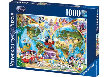 Ravensburger - Disney's World Map Puzzle 1000pc