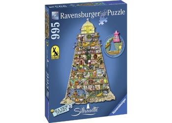 Ravensburger - Silhouette Ludicrous Lighthouse 995 pc