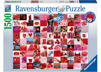 Ravensburger - 99 Beautiful Red Things Puzzle 1500 pieces