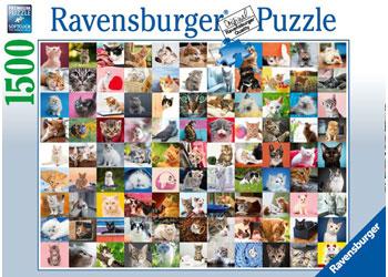 Ravensburger - 99 Cats Puzzle 1500 pieces