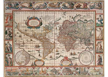 Ravensburger - Map of World From 1650 Puzzle 2000pc