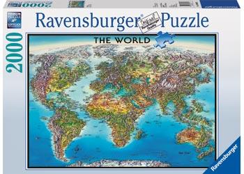 Ravensburger - World Map Puzzle 2000pc