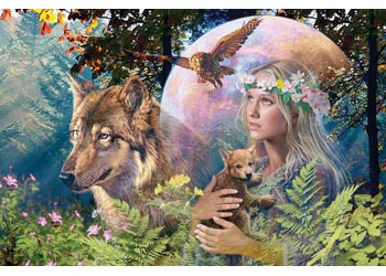 Ravensburger - Lady of the Forest Puzzle 3000pc