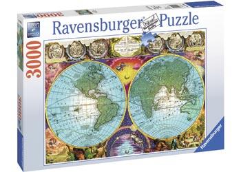 Maps charts ravensburger antique map puzzle 3000 pieces maps charts gumiabroncs Choice Image