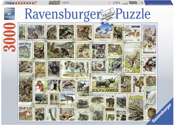 Ravensburger - Animal Stamps Puzzle 3000pc