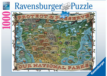 Ravensburger - Protect and Preserve USA Puzzle 1000pc