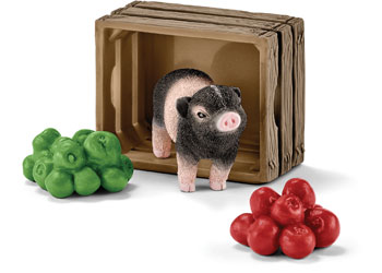 Schleich - Mini-Pig with Apples