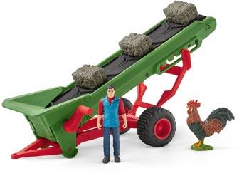 Schleich - Hay Conveyor with Farmer