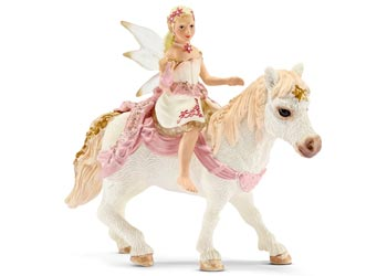 Schleich – Delicate Lily Elf Riding a Pony