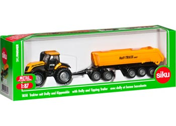 Siku – Tractor w Dolly & Tipping-Trailer-1:87
