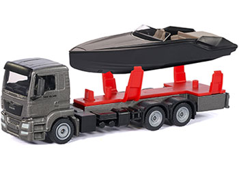 Siku - MAN Truck with Frauscher Motor Yacht - 1:50 Scale