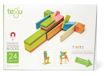 Tegu - Magnetic Wooden Blocks 24pc - Tints
