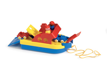 Viking Toys – Ferryboat with 2 Cars and 2 Figures
