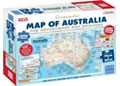 Blue Opal - Adventures Dreamers Map Poster 1000 pieces