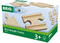 BRIO - Mini Straight Tracks, 4 pieces