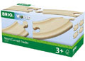 BRIO - Short Curved Tracks, 4 pieces