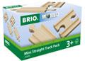 BRIO Tracks - Mini Straight Track Pack, 4 pcs