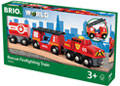 BRIO - Rescue Firefighting Train, 4 pieces