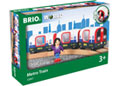 BRIO Train - Metro Train with Sound & Lights, 4 pieces