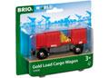 BRIO Vehicle - Gold Load Cargo Wagon, 2 pieces
