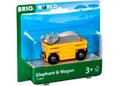 BRIO Vehicle - Elephant and Wagon, 2 pieces