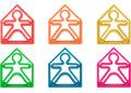 dena toys - KID 6pc + HOUSE 6pc Neon