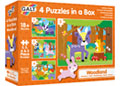 Galt - 4 Puzzles in a Box -  Woodland