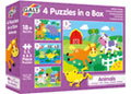 Galt - 4 Puzzles in a Box - Animals