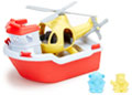 Green Toys - Rescue Boat and Helicopter