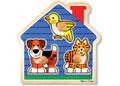Melissa & Doug – House Pets Jumbo Knob Puzzle 3 Piece