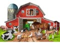 M&D – Busy Barn Shaped Floor Puzzle – 32pc