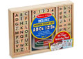 M&D - Deluxe Wooden ABC-123 Stamp Set