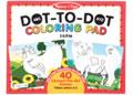 M&D - ABC Dot-to-Dot Coloring Pad - Farm
