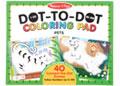 M&D - 123 Dot-to-Dot Coloring Pad - Pets