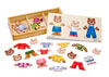 Melissa & Doug – Wooden Bear Family Dress Up – 45pc