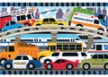 Melissa & Doug – Traffic Jam Floor Puzzle – 24pc