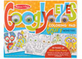 M&D - Googly Eyes Colouring Pad - Goofy Monsters