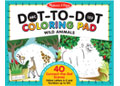 M&D – ABC 123 Dot-to-Dot Colouring Pad – Wild Animals